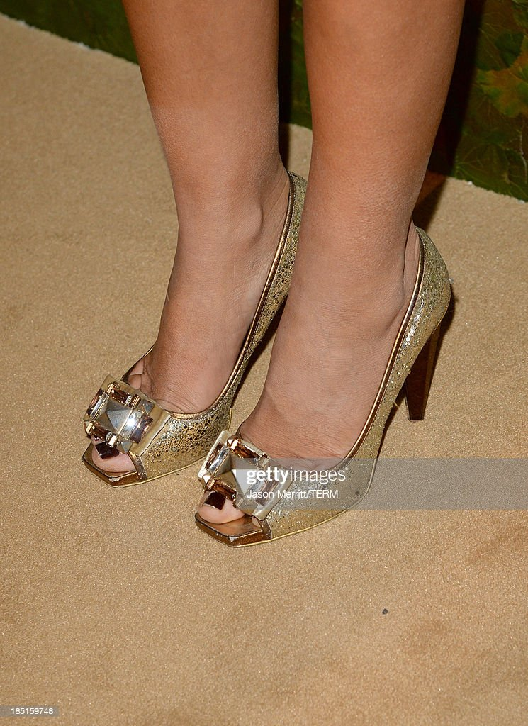 Lady Victoria Hervey (shoe detail) arrives at the Wallis Annenberg Center for the Performing Arts Inaugural Gala presented by Salvatore Ferragamo at the Wallis Annenberg Center for the Performing Arts on October 17, 2013 in Beverly Hills, California.