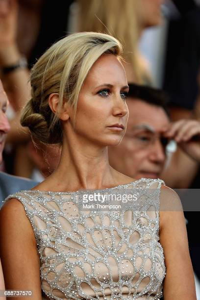 Lady Victoria Hervey at the Amber Lounge fashion show during previews to the Monaco Formula One Grand Prix at Circuit de Monaco on May 26 2017 in...