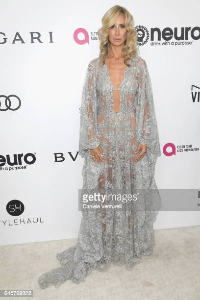 Lady Victoria Hervey attends Bulgari at the 25th Annual Elton John AIDS Foundation's Academy Awards Viewing Party at on February 26 2017 in Los...