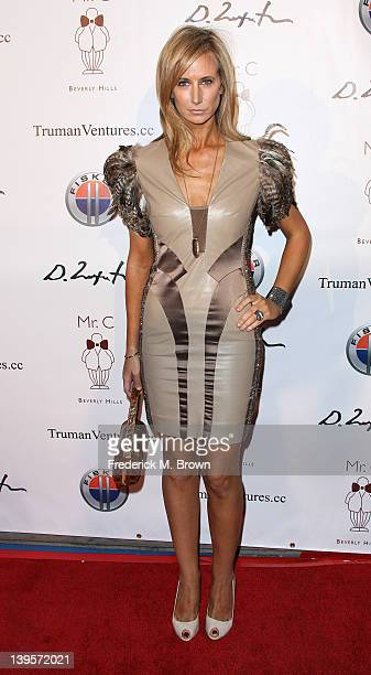 Lady Victoria Hervey attends Domingo Zapata's Oscar Art Show Presented by Mr C Beverly Hills on February 22 2012 in Beverly Hills California
