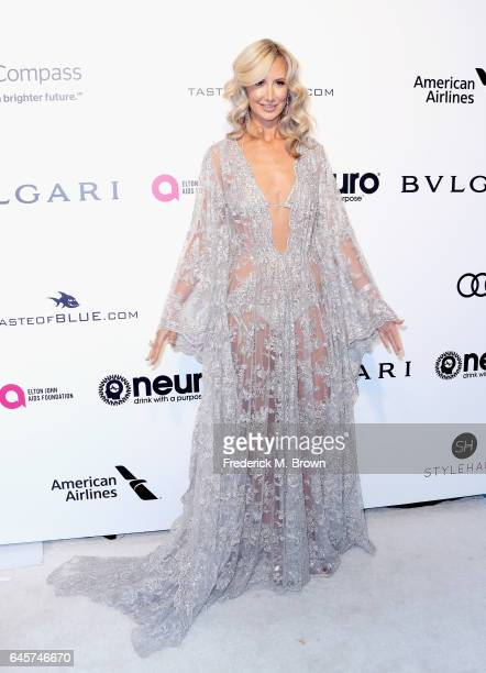 Lady Victoria Hervey attends the 25th Annual Elton John AIDS Foundation's Academy Awards Viewing Party at The City of West Hollywood Park on February...