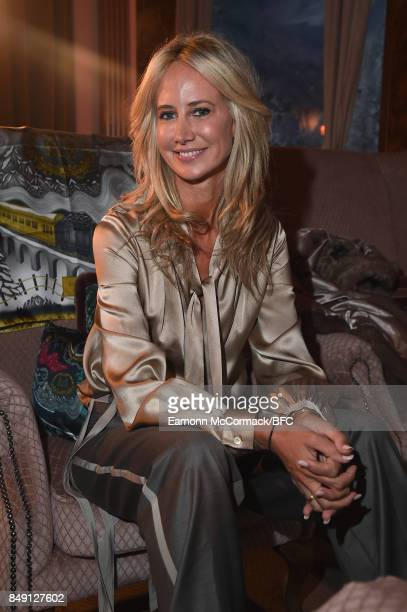 Lady Victoria Hervey attends the Aspinal of London presentation during London Fashion Week September 2017 on September 18 2017 in London England