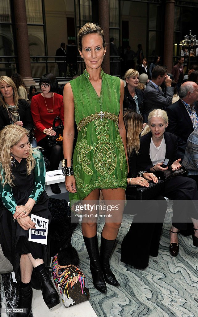 Lady Victoria Hervey attends the front row for the Vivienne Westwood Red Label show on day 3 of London Fashion Week Spring/Summer 2013, at the British Foreign & Commonwealth Office on September 16, 2012 in London, England.
