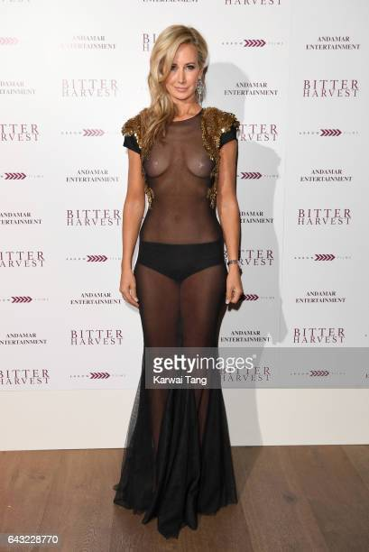 Lady Victoria Hervey attends the gala screening of 'Bitter Harvest' at the Ham Yard Hotel on February 20 2017 in London United Kingdom