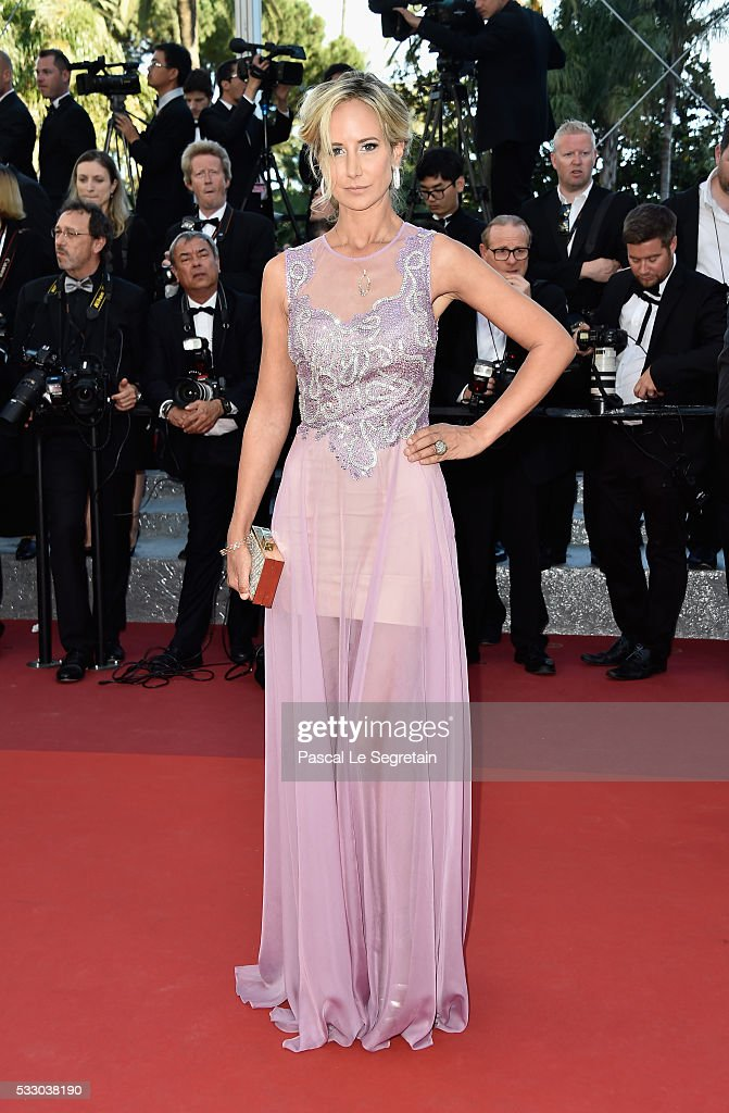 Lady Victoria Hervey attends 'The Last Face' Premiere during the 69th annual Cannes Film Festival at the Palais des Festivals on May 20 2016 in...
