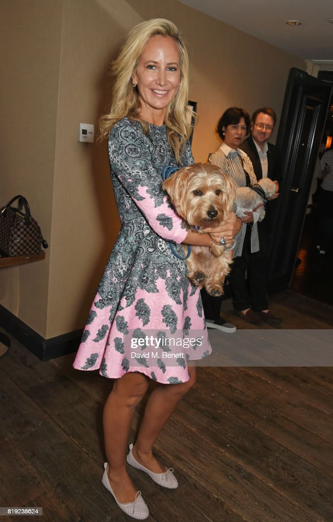 Lady Victoria Hervey attends the launch of Rosewood's Canine Luxury Experience and the Barbour Dogs Loyalty Scheme hosted by Rosewood London and Barbour at Rosewood London on July 20, 2017 in London, England.