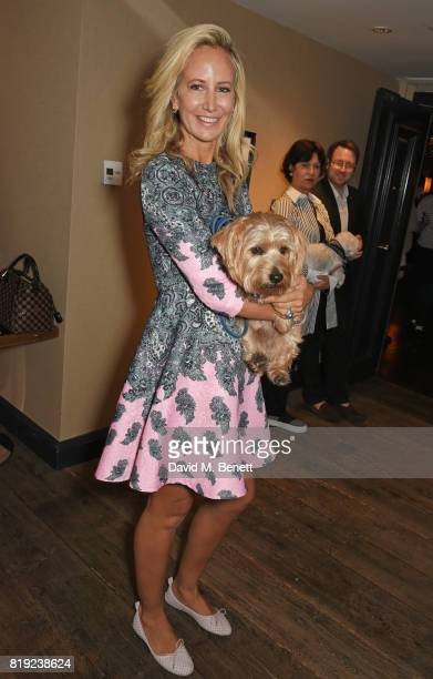 Lady Victoria Hervey attends the launch of Rosewood's Canine Luxury Experience and the Barbour Dogs Loyalty Scheme hosted by Rosewood London and...