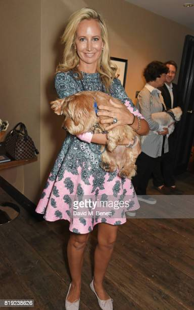 Lady Victoria Hervey attends the launch of Rosewood's Canine Luxury Experience hosted by Rosewood London and Barbour at Rosewood London on July 20...