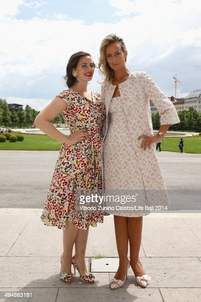 Lady Victoria Hervey attends the Life Ball 2014 First Ladies Luncheon at Belvedere Palace on May 31 2014 in Vienna Austria