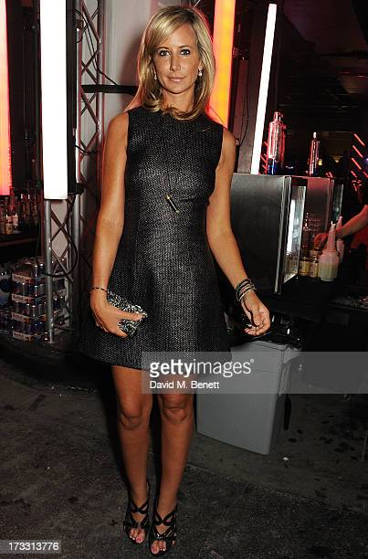 Lady Victoria Hervey attends the Lulu Guinness Paint Project in collaboration with Beautiful Crime and their artist Joseph Steele at The Old Sorting...