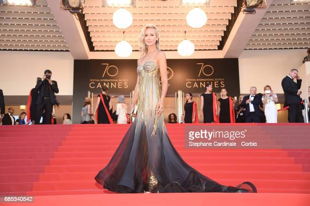 Lady Victoria Hervey attends the 'Okja' premiere during the 70th annual Cannes Film Festival at Palais des Festivals on May 19 2017 in Cannes France