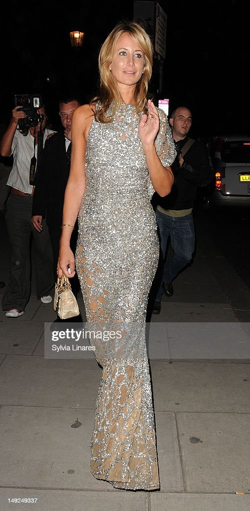 Lady Victoria Hervey leaving The V&A Museum on July 25, 2012 in London, England.