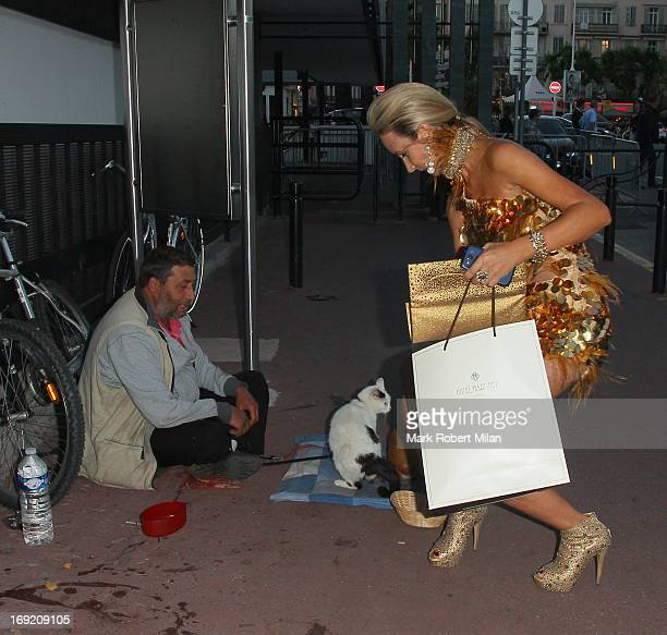 Lady Victoria Hervey sighting in the harbour during The 66th Annual Cannes Film Festival on May 21 2013 in Cannes France