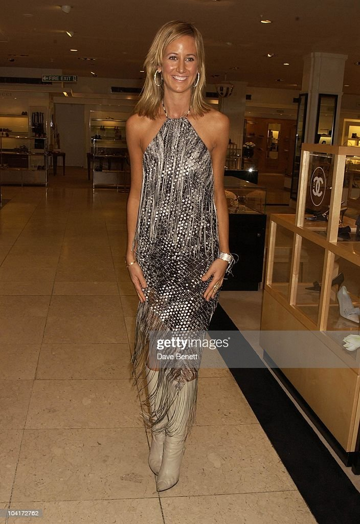 Lady Victoria Hervey Wearing Missoni, Italian Designer Missoni Celebrated Having An Outlet At Harrods By Staging A Fashion Show Of Their Latest Range.