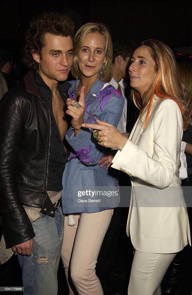 Lady Victoria Hervey With Friends Sarah Bernard, New Italian Shop 'Jill Sander' Opening Party, Wood Lane, London