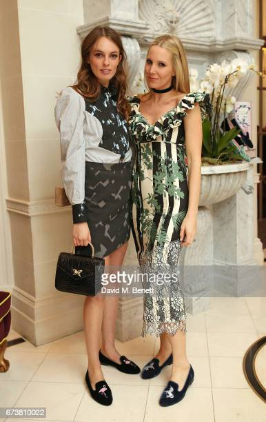 Lady Violet Manners and Alice NaylorLeyland attend a VIP dinner celebrating Mrs Alice for French Sole at The Connaught Hotel on April 25 2017 in...