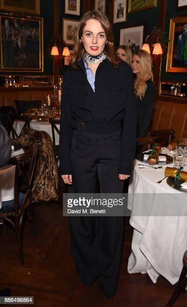 Lady Violet Manners attends the Polo Bear Holiday Dinner hosted by Polo Ralph Lauren and Alexandra Richards at Ralph's Coffee Bar on December 5 2017...