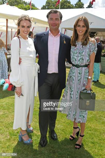 Lady Violet Manners Laurent Feniou and Lady Alice Manners attend the Cartier Queen's Cup Polo final at Guards Polo Club on June 18 2017 in Egham...