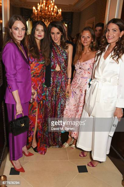 Lady Violet Manners Sarah Ann Macklin Rosanna Falconer guest and Racil Chalhoub attend the Harper's Bazaar 150th Anniversary Party at William Kent...