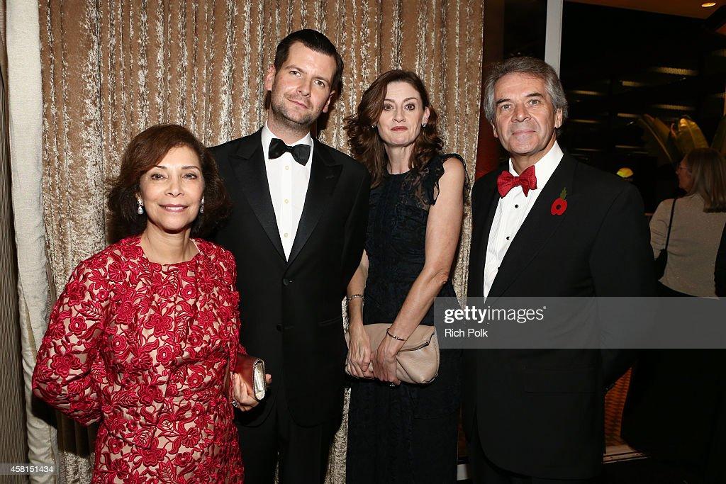 Lady Westmacott Luke Parker Bowles Vice Chairman BAFTA Amanda Berry OBE CEO BAFTA and Sir Peter Westmacott attend the BAFTA Los Angeles Jaguar...