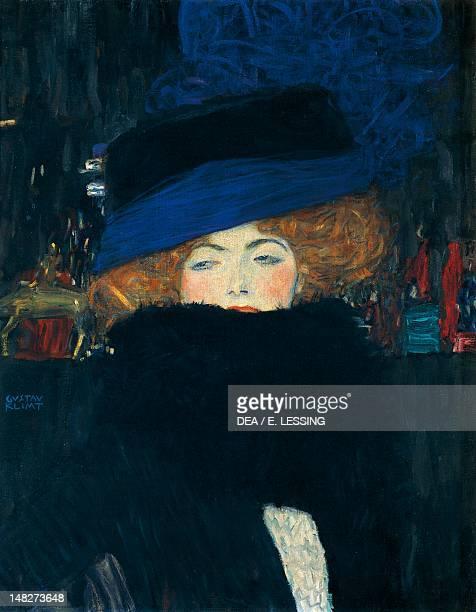 Lady with a hat and a feather boa by Gustav Klimt Vienna Österreichischer Galerie Belvedere