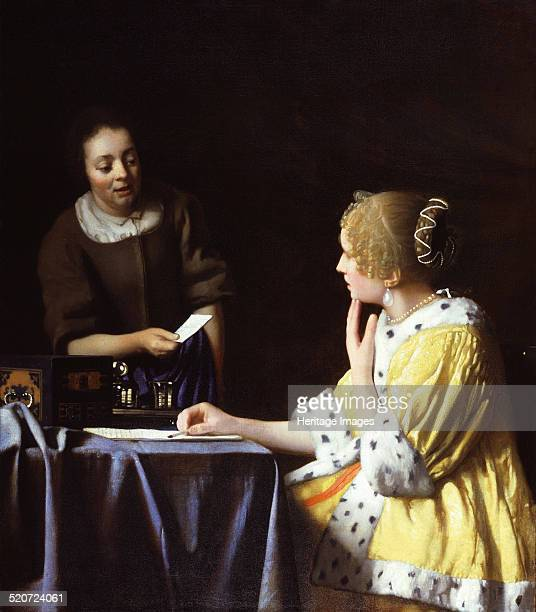 Lady with Her Maidservant Holding a Letter Found in the collection of Frick Collection New York