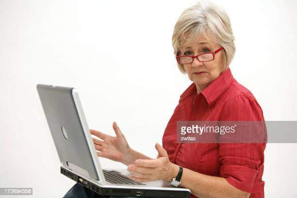 lady with the laptop