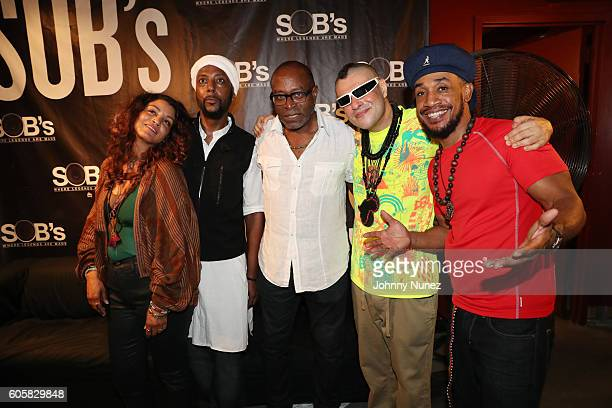 Ladybug Mecca Don Newkirk Bryan Jackson Rodrigo Brandão and Prince Paul backstage at SOB's on September 14 2016 in New York City