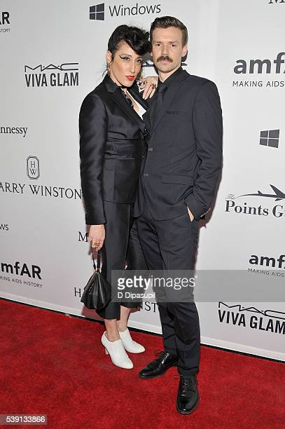 Ladyfag and Adam Selman attend the 7th Annual amfAR Inspiration Gala at Skylight at Moynihan Station on June 9 2016 in New York City