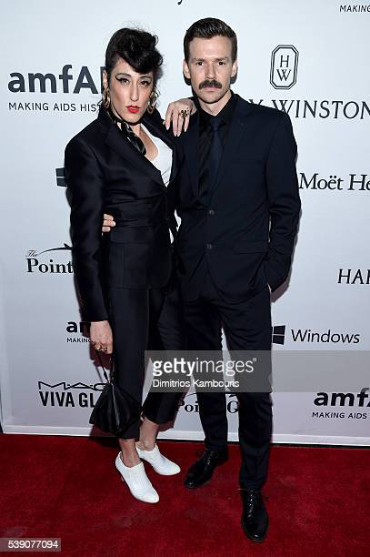 Ladyfag and designer Adam Selman attend the 7th Annual amfAR Inspiration Gala at Skylight at Moynihan Station on June 9 2016 in New York City