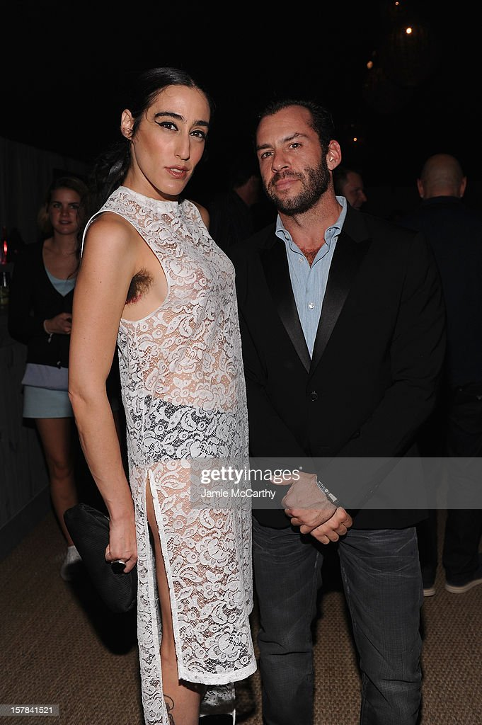 Ladyfag and Josh Wood attend the amfAR Inspiration Miami Beach Party at Soho Beach House on December 6, 2012 in Miami Beach, Florida.