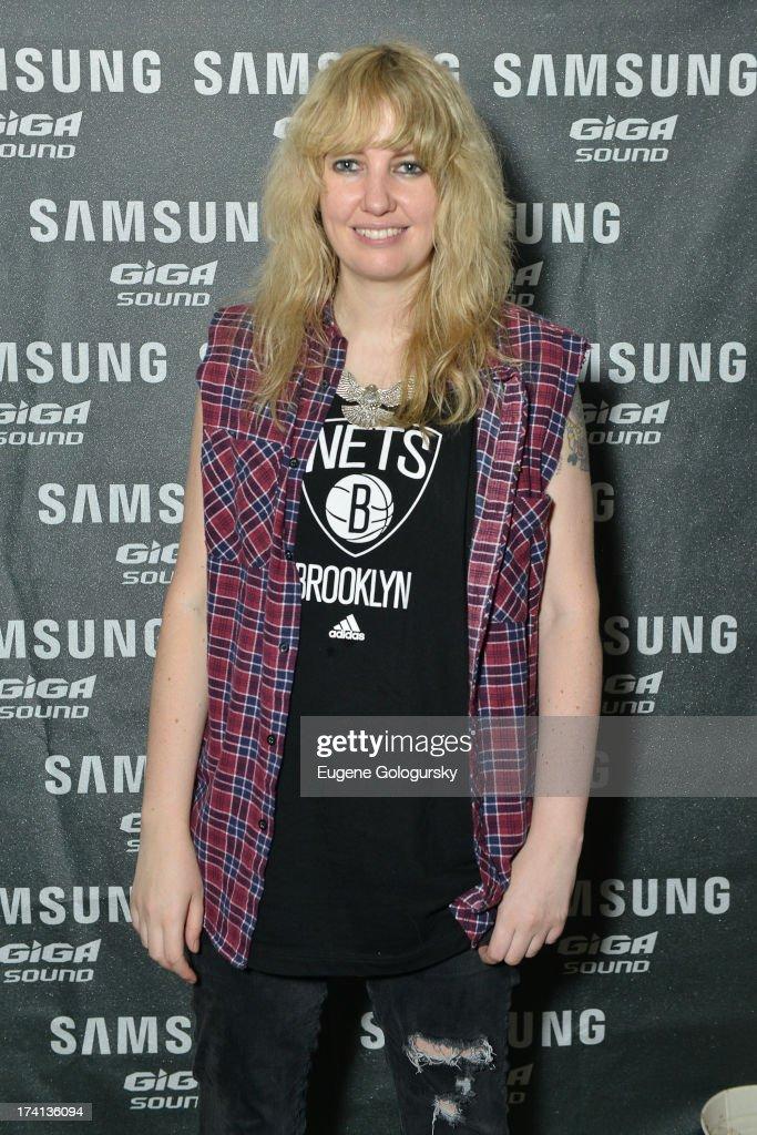 DJ Ladyhawke arrives at Samsung's #GigaSoundBlast Summer DJ Series on July 20, 2013 at Surf Lodge in Montauk, New York.