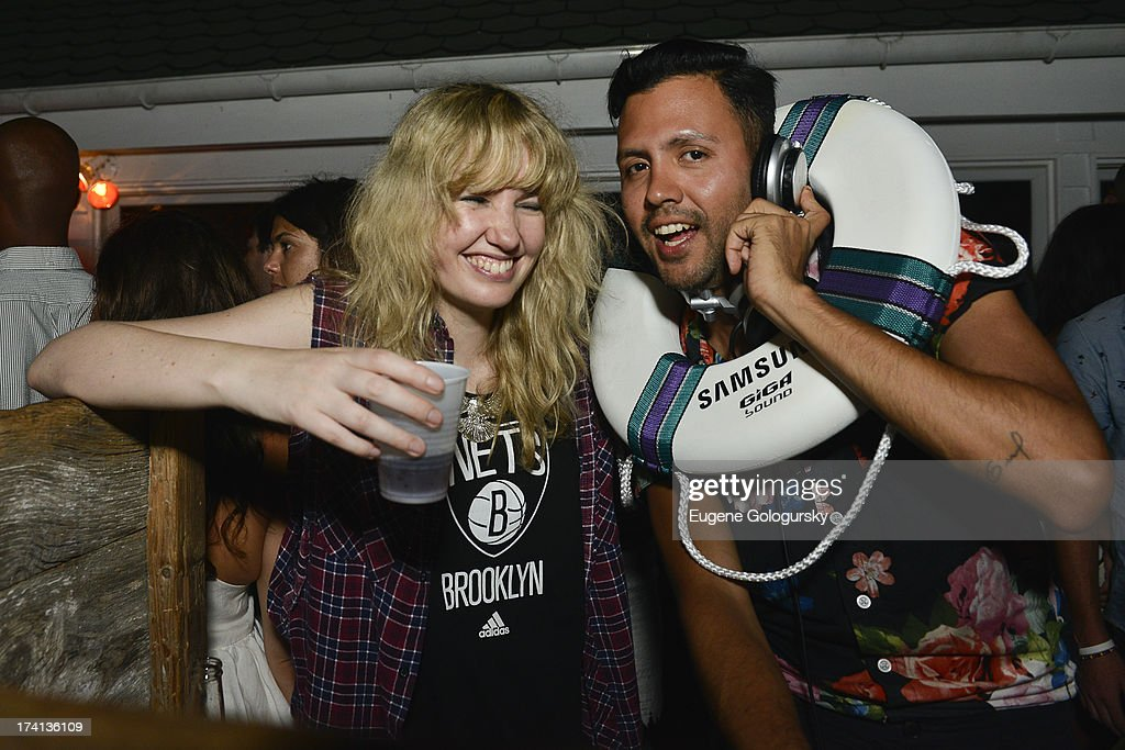DJ Ladyhawke spins the night away at Samsung's #GigaSoundBlast Summer DJ Series on July 20, 2013 at Surf Lodge in Montauk, New York.