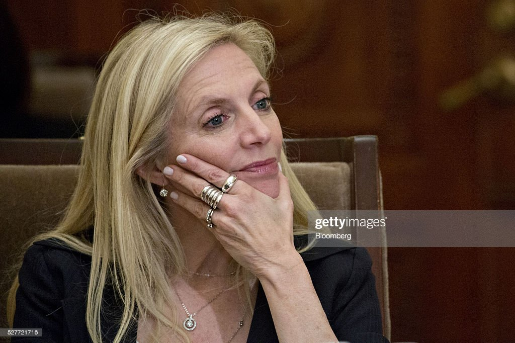 Lael Brainard, governor of the U.S. Federal Reserve, listens during a meeting of the Board of Governors of the Federal Reserve in Washington, D.C., U.S., on Tuesday, May 3, 2016. Hedge funds, insurers and other companies that do business with Wall Street megabanks are poised to pay a price for regulators' efforts to make sure any future collapse of a giant lender doesn't tank the entire financial system. Photographer: Andrew Harrer/Bloomberg via Getty Images