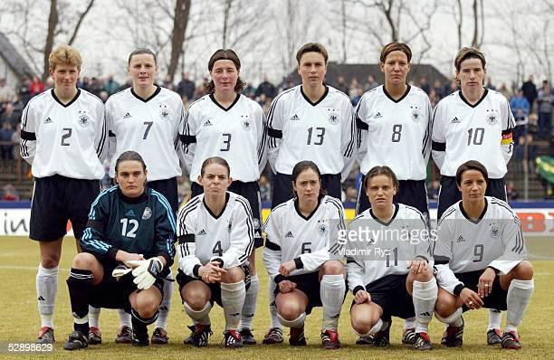 Laenderspiel 2003 Guetersloh Deutschland China 22 Team GER/hintere Reihe vlinre Kerstin STEGEMANN Pia WUNDERLICH Verena HAGEDORN Sandra MINNERT Linda...