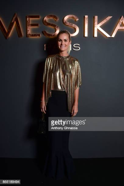 Laeticia Hallyday attends Messika cocktail as part of the Paris Fashion Week Womenswear Spring/Summer 2018 on September 27 2017 in Paris France