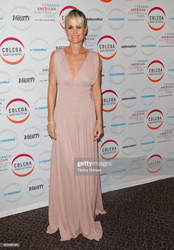 Laeticia Hallyday attends opening night of the 20th annual COLCOA French Film Festival at Directors Guild of America on April 18, 2016 in Los Angeles, California.