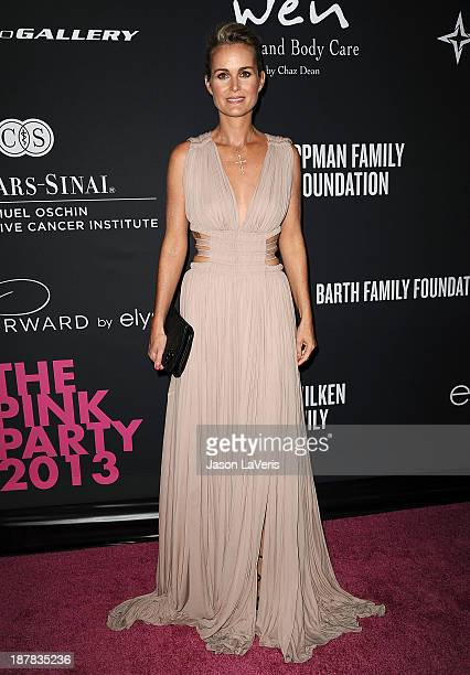 Laeticia Hallyday attends the 2013 Pink Party at Hangar 8 on October 19 2013 in Santa Monica California