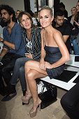 Laeticia Hallyday attends the Alexandre Vauthier Haute Couture Fall/Winter 20162017 show as part of Paris Fashion Week on July 5 2016 in Paris France