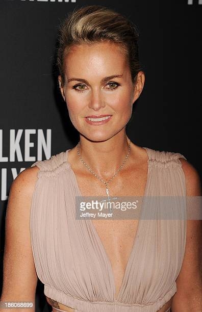 Laeticia Hallyday attends The Pink Party 2013 at Barker Hangar on October 19 2013 in Santa Monica California