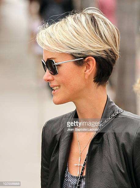 Laeticia Hallyday is seen in Pacific Palisades on June 30 2010 in Los Angeles California