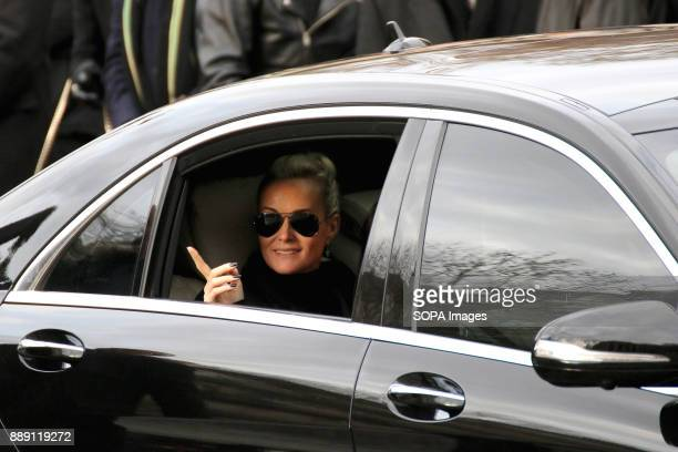 Laeticia Hallyday seen during Johnny Hallydays funerals at Eglise de la Madeleine