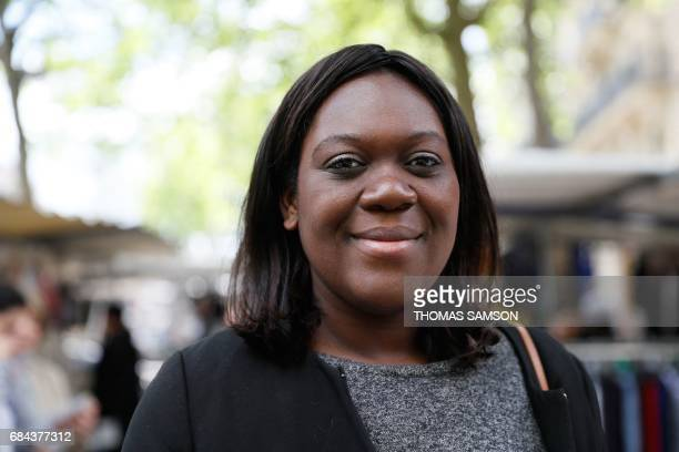 Laetitia Avia a lawyer invested by La République En Marche party for the legislative campaign campaigns for the upcoming parliamentary elections in...