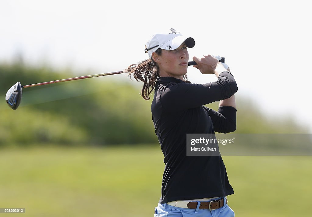 Laetitia Beck of Israel watches her tee shot on the 14th hole during the second round of the Yokohama Tire Classic on May 06, 2016 in Prattville, Alabama.