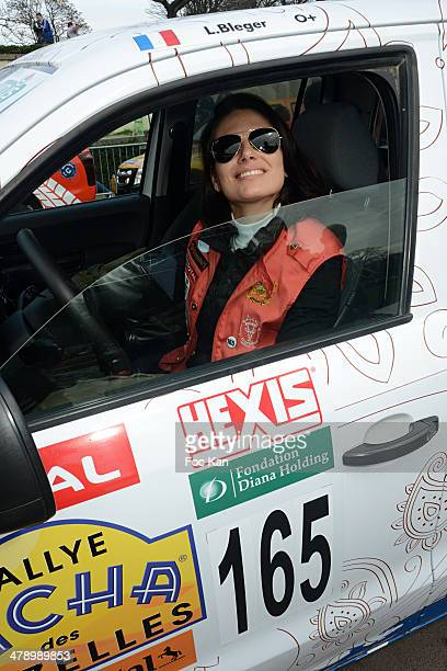 Laetitia Bleger attends the 24th Rallye Aicha Des Gazelles 2014' Departure At bassin du Trocadero on March 15 2014 in Paris France