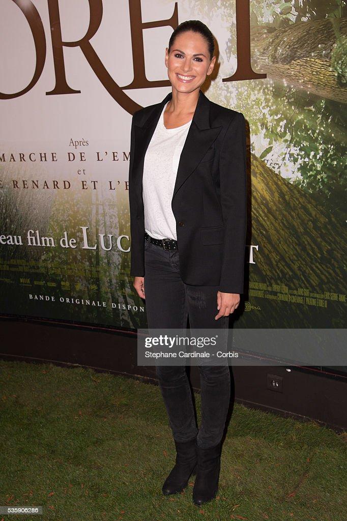 Laetitia Bleger attends the 'Il etait une foret' Paris Premiere at Cinema Gaumont Marignan, in Paris.