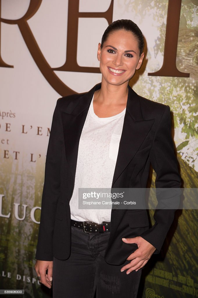 Laetitia Bleger attends the 'Il etait une foret' Paris Premiere at Cinema Gaumont Marignan, in Paris.