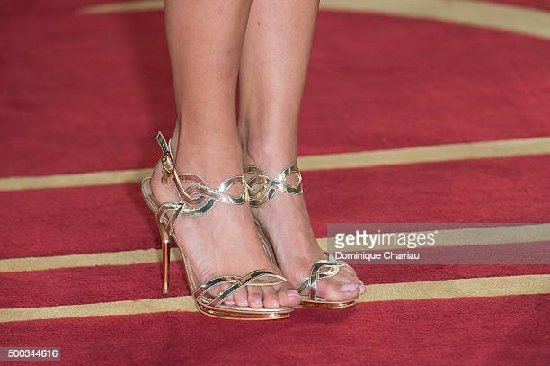 Laetitia Bleger Shoe detail attends the ' Les Braqueurs' premiere during the 15th Marrakech International Film Festival on December 7 2015 in...