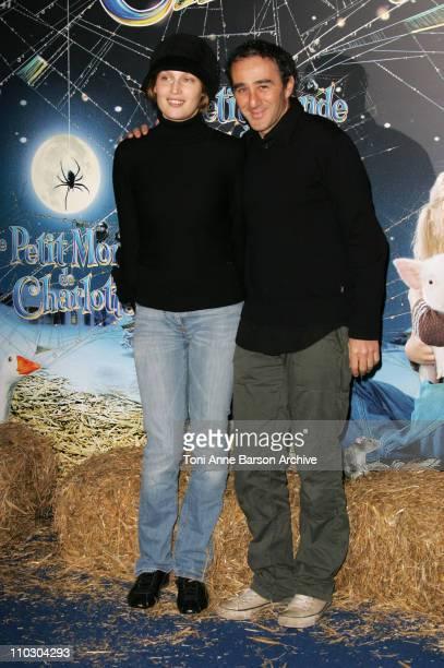 Laetitia Casta and Elie Semoun during 'Charlotte's Web' Paris Premiere Arrivals at Gaumont Marignan Theater in Paris France