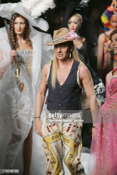 Laetitia Casta and John Galliano Wearing DIOR Haute Couture